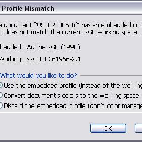 Disable embedded profile uyarısı kapatma