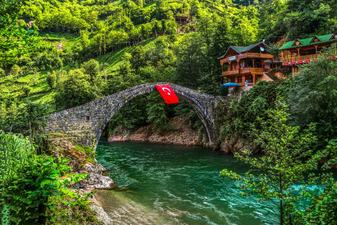 Çinçiva Köprüsü. Fırtına Deresi/ÇAMLIHEMŞİN