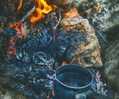 coffee on fire