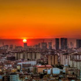 İstanbul'da Günbatımı