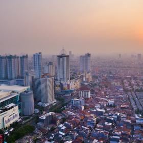 Sunset my city