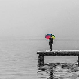 Şemsiyeli Kız...