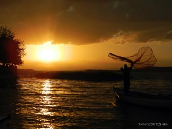 Gölyazı da   Gün Batımı