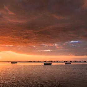 Sunset Heiligenhafen, Baltic Sea