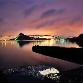 KRK BRIDGE at night