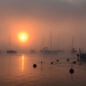 Fog over the Nysa Lake, Polonya