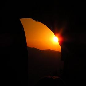 Leros Kalesi'nde Güneşin Batışı