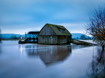 High Flood in Minden, Germany