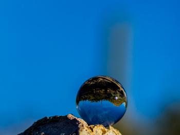 Glass Ball Refraction Photography