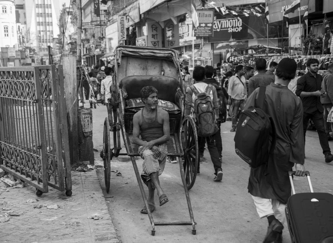 Streets of Kolkata (Rickshaw wala)