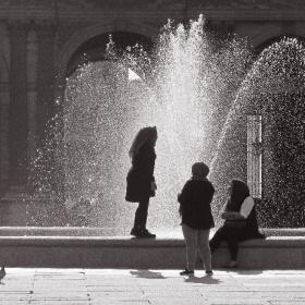 A fountain in Paris