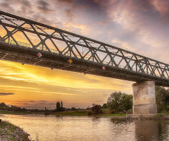The bridge and fisherman
