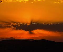 Güneş ve Bulutun mücadelesi...