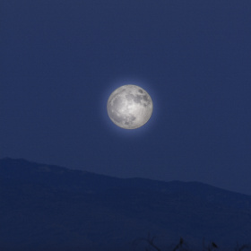 A Full Moon Over Arizona Sky