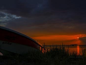 Erdek'te gün batımı.