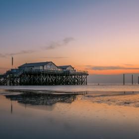 Sunset Sankt Peter-Ording North Sea