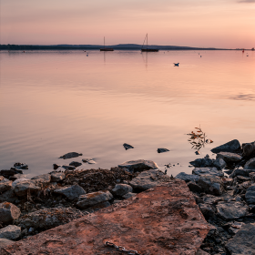 Sunset Steinhude Lake