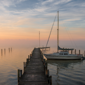 Foggy Morning Steinhude Lake