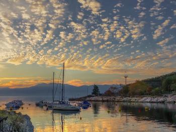 sunset  in  port