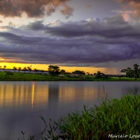 Começo de noite na Lagoa do Espigão.