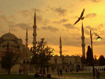 Sultanahmet Camisinde Akşam