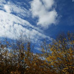Wolken ziehen dahin