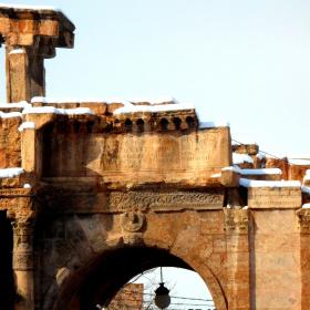 Carcalla's Gate under the snow