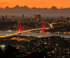 Günbatımı Boğaz köprüsü..