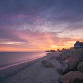 Sunrise Graswarder Baltic Sea