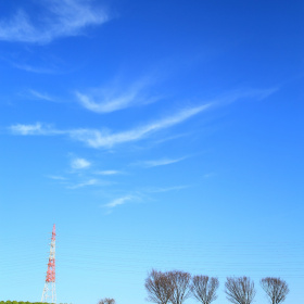 Clouds flow