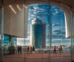 View from Elbe Philharmonic Hamburg