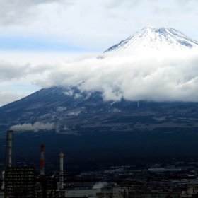 Cloudy Fuji