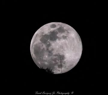 Full Moon Over Tucson Mountains
