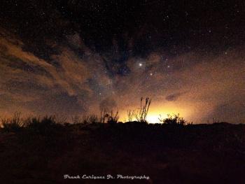 Jupiter, Antares, Milky Way and Clouds Over AZ