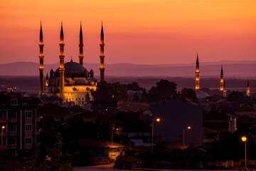 Edirne'de Akşam.