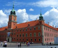 Royal castle in Warsaw.Polish