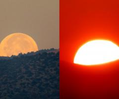 Gün batımı-Gün doğumu-aynı saatte