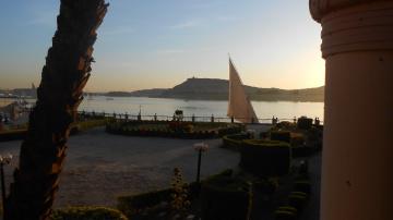 Egypt  - Aswan  - Nile River  - Sunset