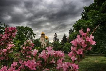 Stormy spring weather