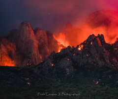 Pre-Summer Monsoon Arizona Fire In The Mountains