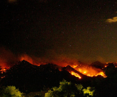 Sonoran Desert Mountain Big Horn Fire