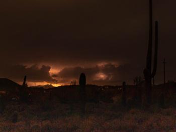 Arizona Monsoon Night Storm