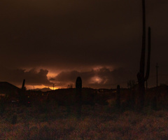 Arizona Monsoon Night Storm