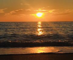 Alanya beach sun set