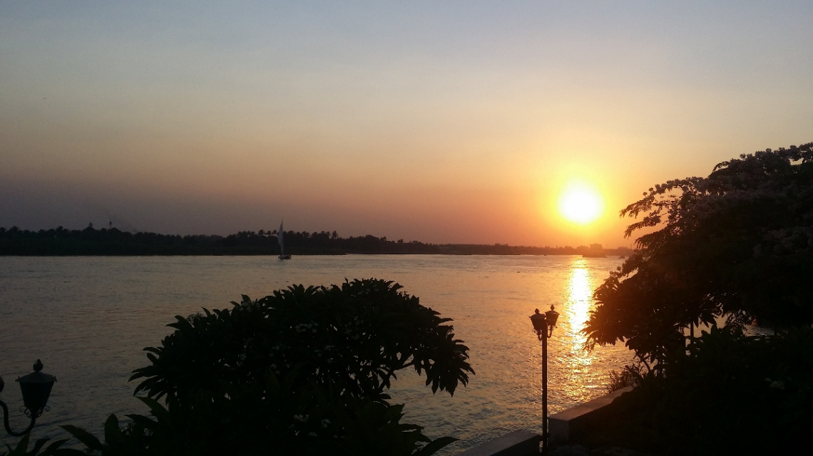 Egypt  -Cairo  - Nile River  - Sunset