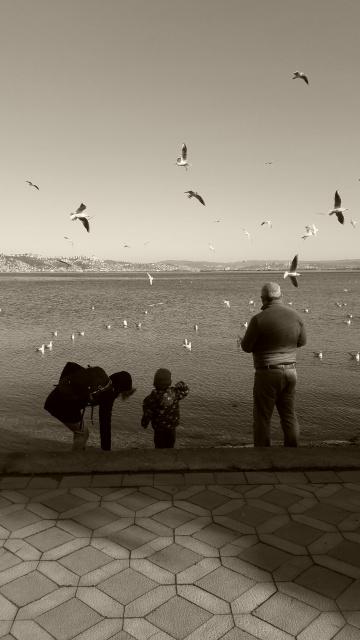 Başiskele sahilinde huzur
