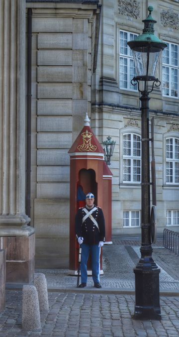 Guard For The Queen Of Denmark. Margrethe II