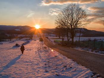Kış ve Gün Batımı