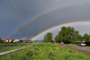... rainbow in Nysa, Polonya