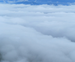 Above the sea of clouds